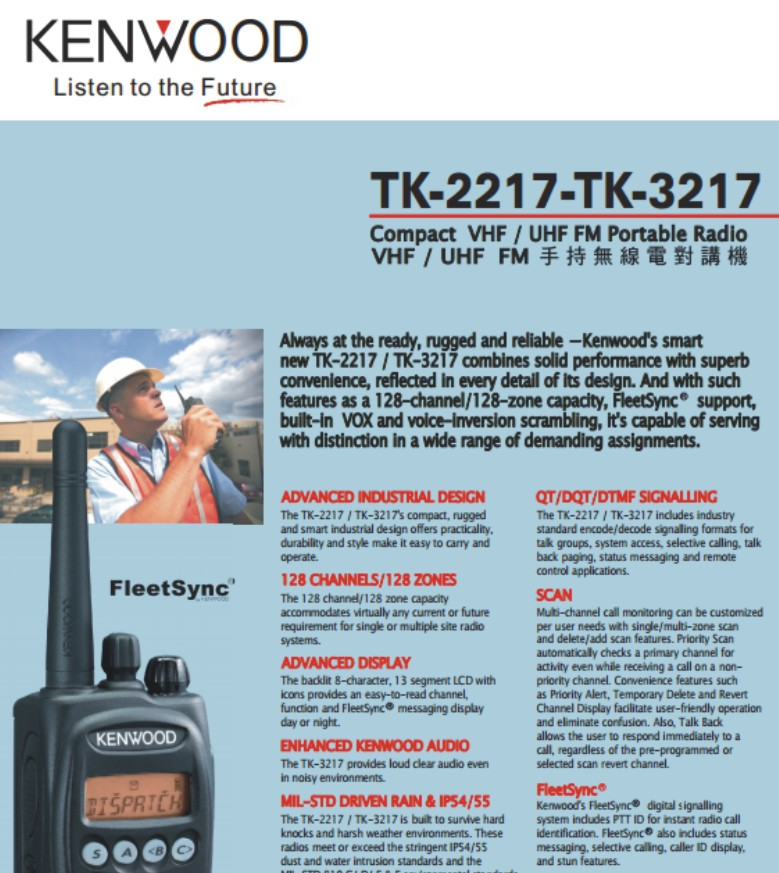 Bộ đàm cầm tay Kenwood TK 2217