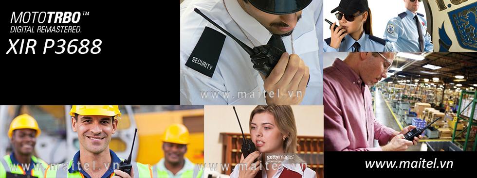 Bộ đàm cầm tay Motorola XIR P3688 kĩ thuật số