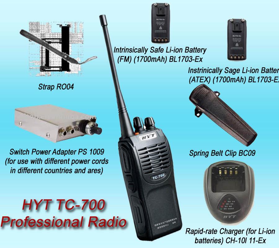 Bộ đàm cầm tay HYT TC 700