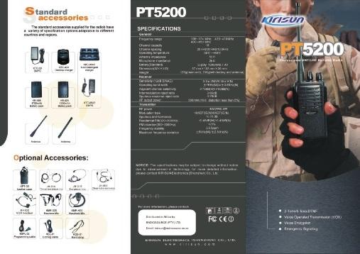 Bộ đàm cầm tay Kirisun PT 5200