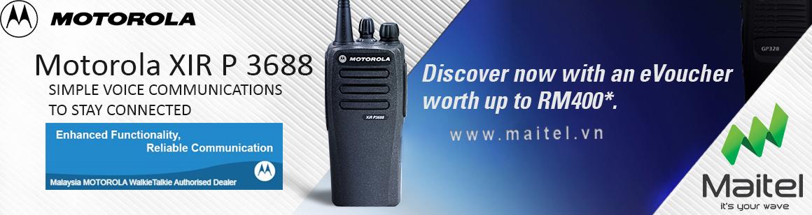 Máy bộ đàm cầm tay kĩ thuật số Motorola XIR P3688