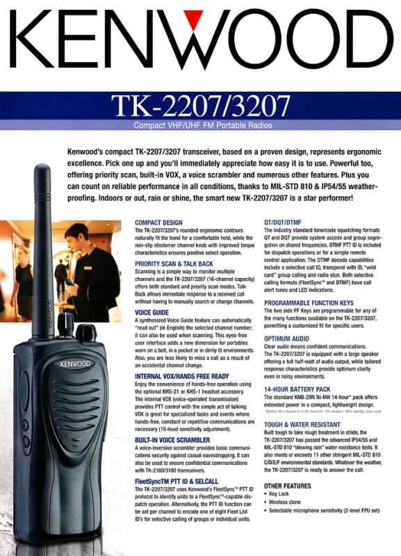Bộ đàm cầm tay Kenwood TK 2207