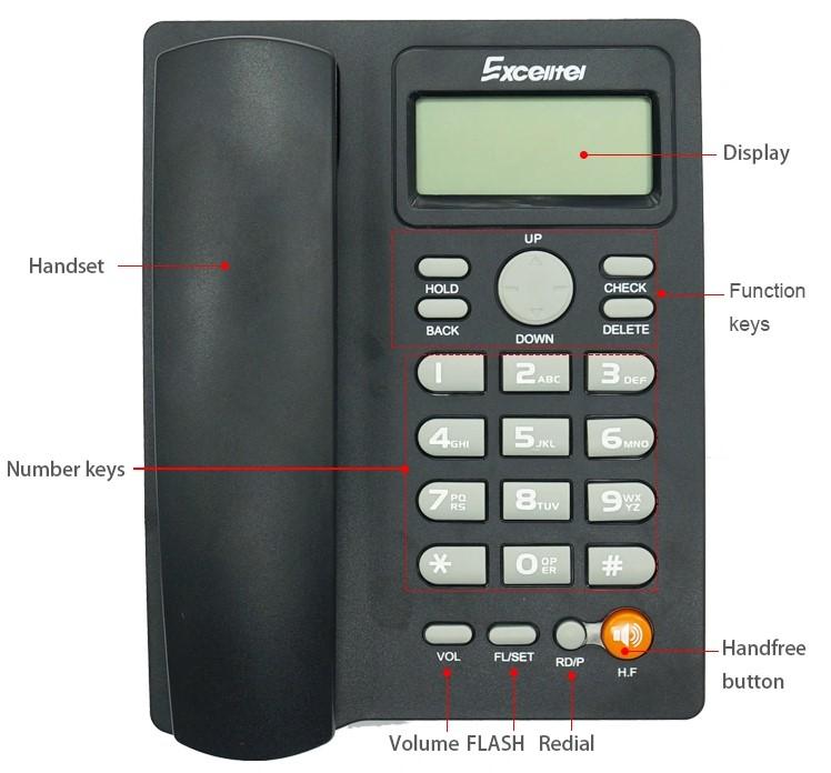 Điện thoại để bàn Excelltel PH208